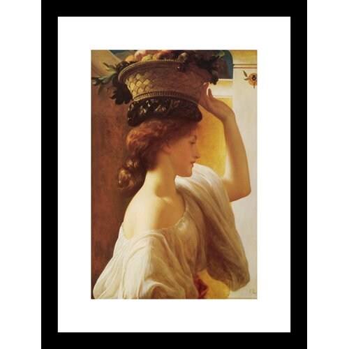 Eucharis Girl with a Basket of Fruit Framed Painting Print