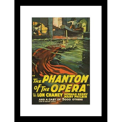 The Phantom of the Opera Framed Vintage Advertisement