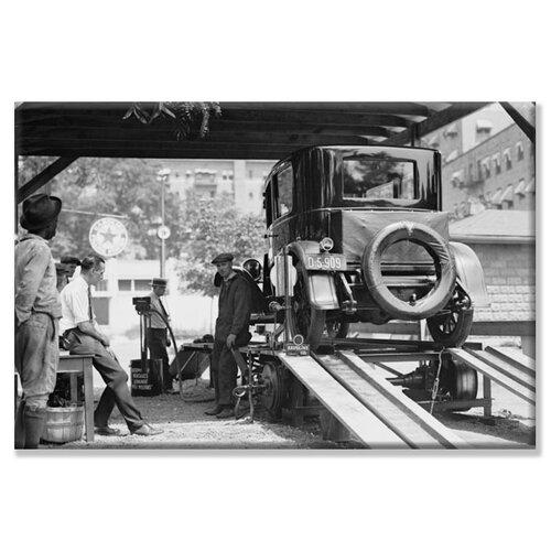 Havoline Oil Company Motor Oil Change Photographic Print on Canvas