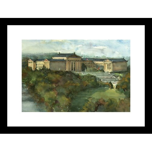 Phila Art Museum Framed Painting Print