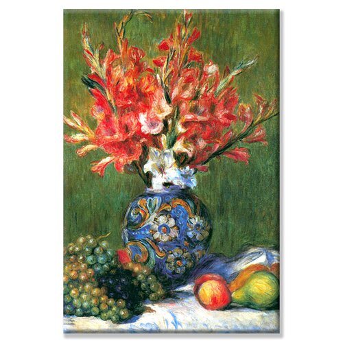 'Flowers and Fruit' Painting Print on Canvas