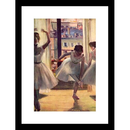 3 Dancers in a Practice Room Framed Painting Print