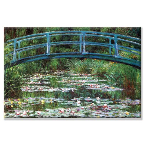 'Japanese Footbridge' by Claude Monet Painting Print on Canvas