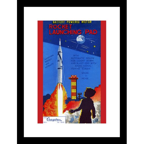 Rocket Launching Pad Framed Graphic Art