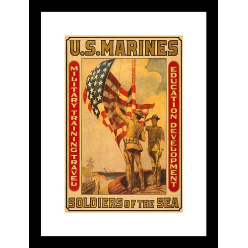 Soldiers of The Sea Military Training Travel Education Development Framed Vintage Advertisement