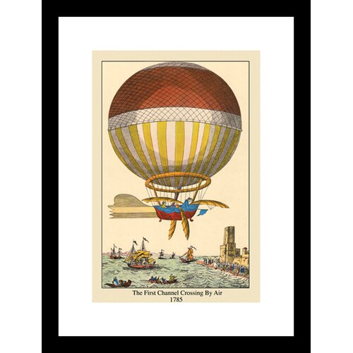 First Channel Crossing by Air 1785 Balloon Framed Graphic Art