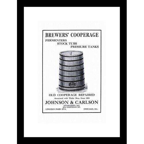 Brewers' Cooperage Framed Vintage Advertisement