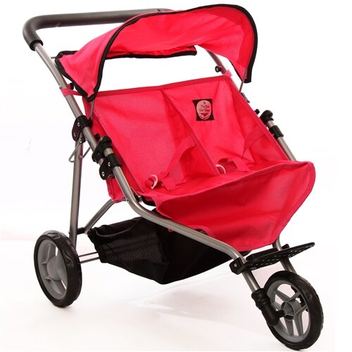 Adorable Doll Twin Jogging Stroller