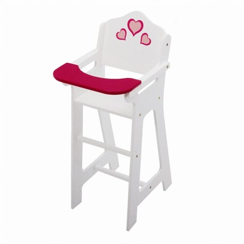 The New York Doll Collection Wooden Doll High Chair