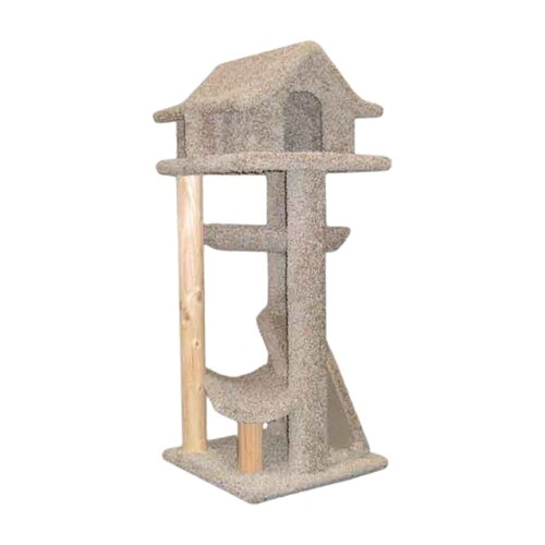 "New Cat Condos 46"" Large Pagodas Cat Tree"