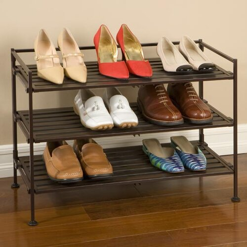 Seville Classics Resin-Wood Composite Utility Shoe Rack