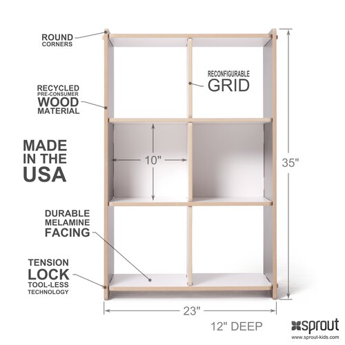 Sprout 6 Compartment Cubby