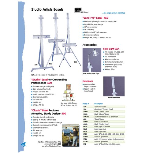 "Testrite 26"" Extension for Easel"