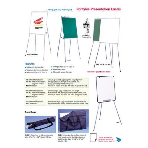 Testrite Easel Bag for 350, 555, and 556 Models