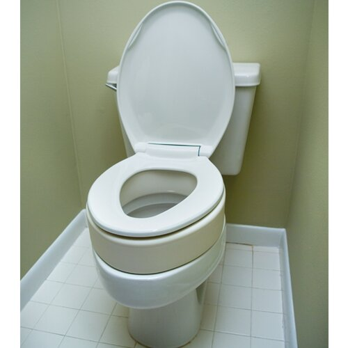 Essential Medical Elongated Raised Toilet Seat Reviews Wayfair