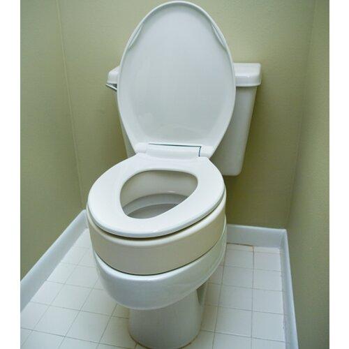 Essential Medical Elongated Raised Toilet Seat Reviews Wayfair