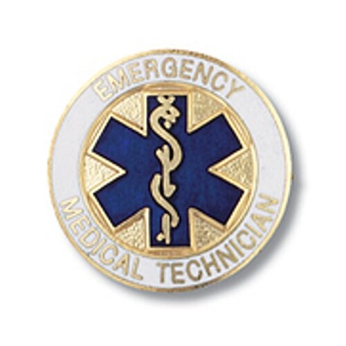 Emergency Medical Technician Star of Life Emblem Pin