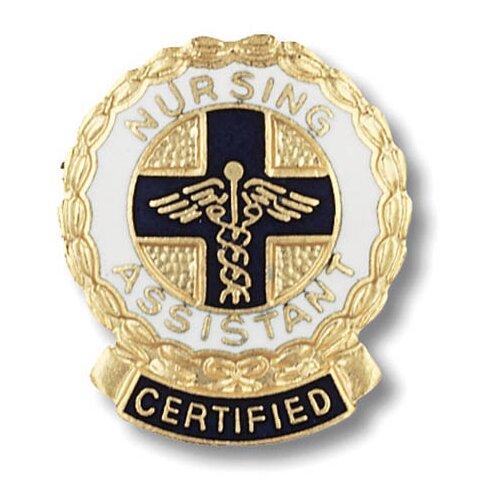 Prestige Medical Certified Nursing Assistant Wreath Edge with Emblem Pin
