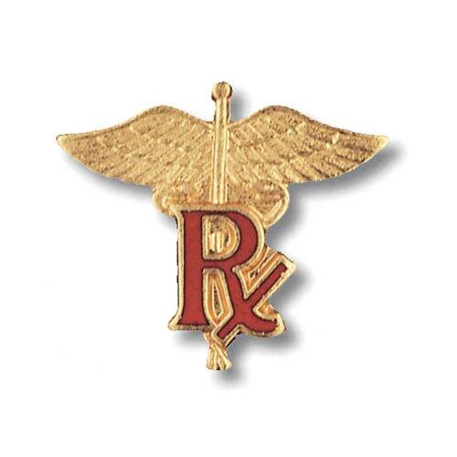 Prestige Medical Pharmacist Caduceus Emblem Pin