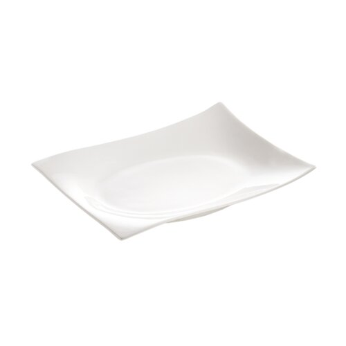 "Maxwell & Williams White Basics Motion Rectangular 6""  Plate"