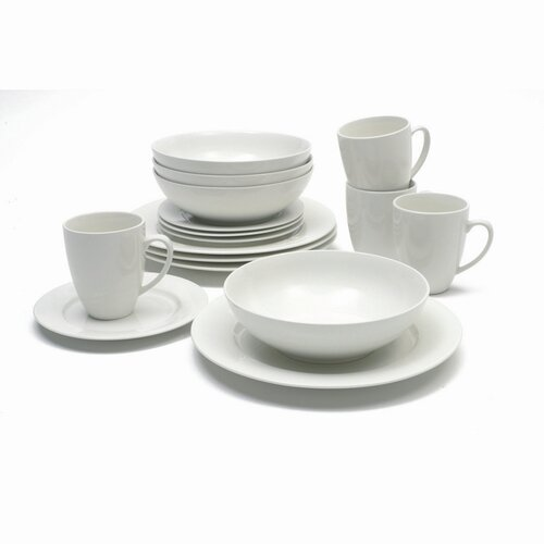 White Basics Studio 16 Piece Dinnerware Set