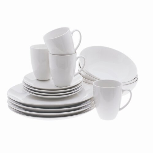 Maxwell & Williams White Basics Coupe 16 Piece Dinnerware Set