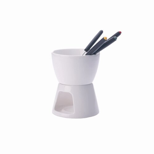 White Basics Chocolate Fondue Set