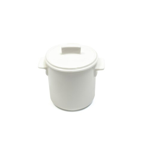 White Basics 4-oz Relish Pot with Lid
