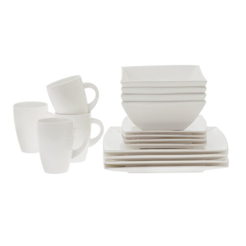 Maxwell & Williams White Basics West Meets East 16 Piece Dinnerware Set
