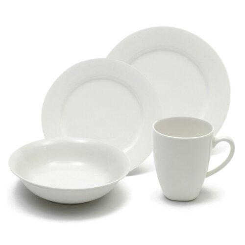White Basics Soho 16 Piece Dinnerware Set