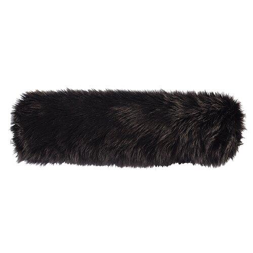 Black Fox Faux Fur Neckroll Pillow