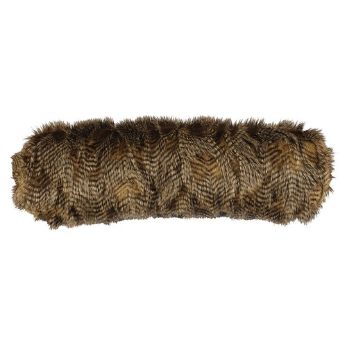 Feathers Faux Fur Neckroll Pillow