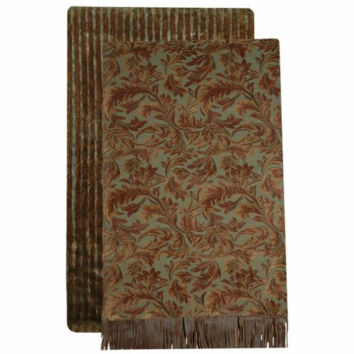 Wooded River Nutmeg Leaf Throw