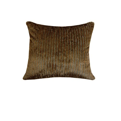 Wooded River Nutmeg Leaf Real Horn Toggle Buttons Pillow