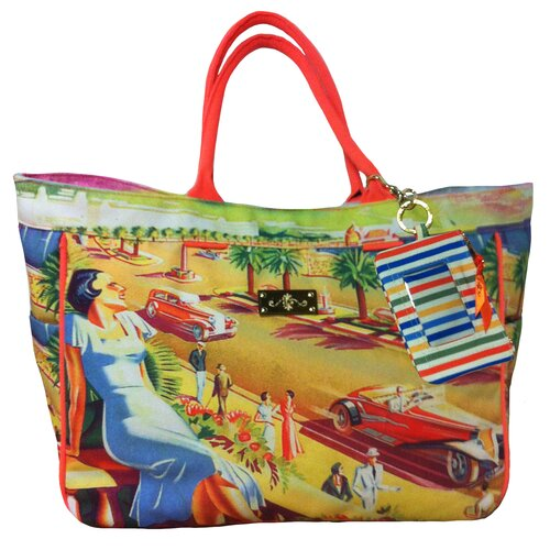 Summer Abroad Seaside View Circa 1940'S Tote Bag
