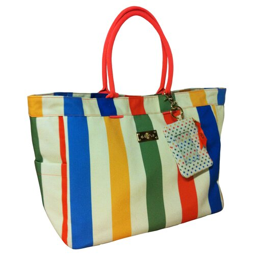 Summer Abroad Striped Tote Bag