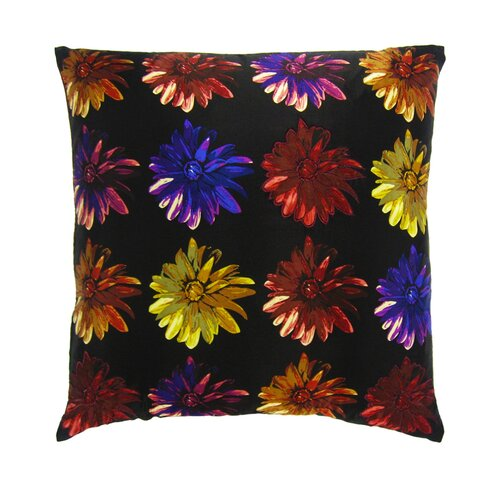 Flower Power Dahlia Silk Pillow