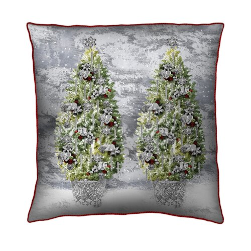 Holiday Elegance Trees Silk Pillow