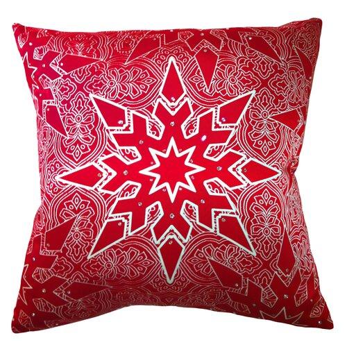 Holiday Elegance Star Silk Pillow