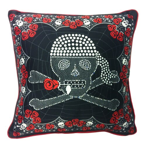 Filos Design Skull and Crossbones Microfiber Pillow