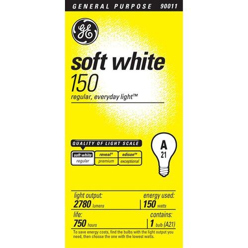 150W 120-Volt (2900 K) Incandescent Light Bulb