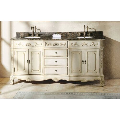 "James Martin Furniture Classico 72"" Double Granite Vanity Set"
