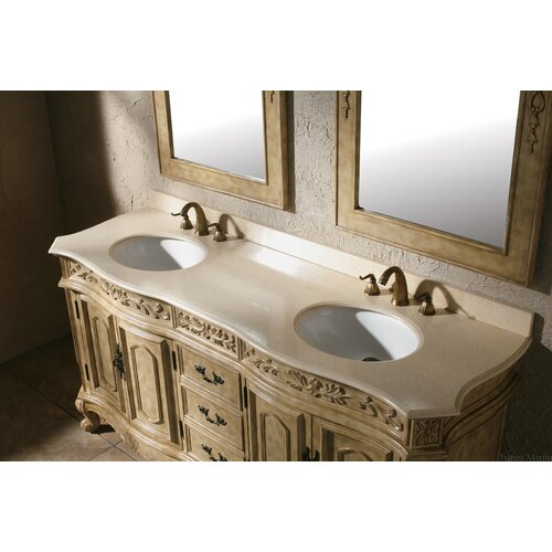 "James Martin Furniture Classico 72"" Double Marble Vanity Set"