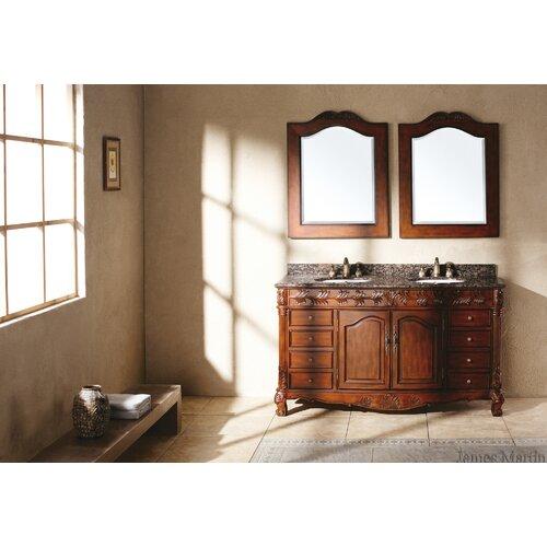 "James Martin Furniture Classico 60"" Double Granite Vanity Set"