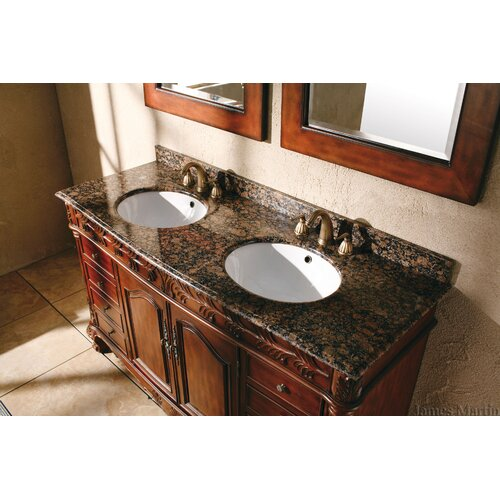 "James Martin Furniture Classico 60"" Double Granite Vanity Set"