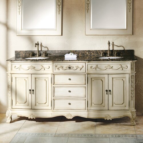 James martin furniture classico double bathroom vanity set - Wayfair furniture bathroom vanities ...