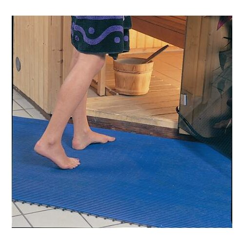 Mats Inc. World's Best Barefoot Mat 2' x 6' Safety and Comfort Mat in Light Blue