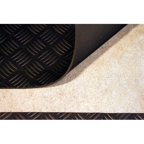Mats Inc. Autoguard  XL 3' x 15' Rubber Garage Protection Mat in Black