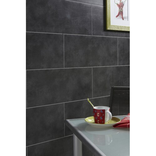 Mats Inc. Dumalock Matte Wall and Ceiling Tile in Dark Grey Concrete