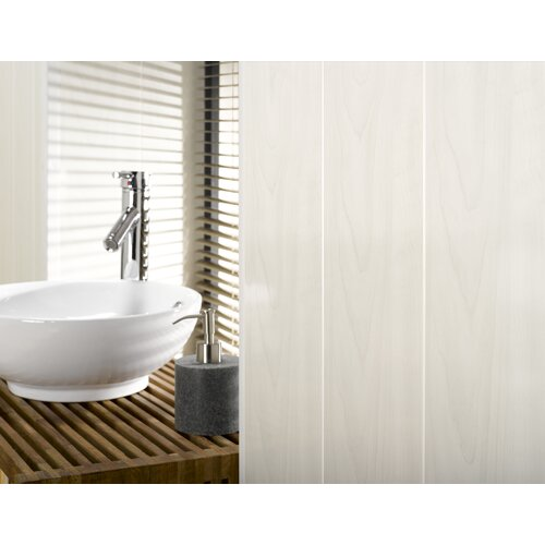 "Mats Inc. Dumaclip 9-4/5"" x 47-1/5"" Wood Grain Wall and Ceiling Tile in White Ash"